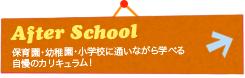 保育園・幼稚園・小学校に通いながら学べる 自慢のカリキュラム! - After School